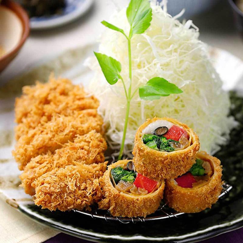 季節野菜の湯葉巻きかつとヒレかつ